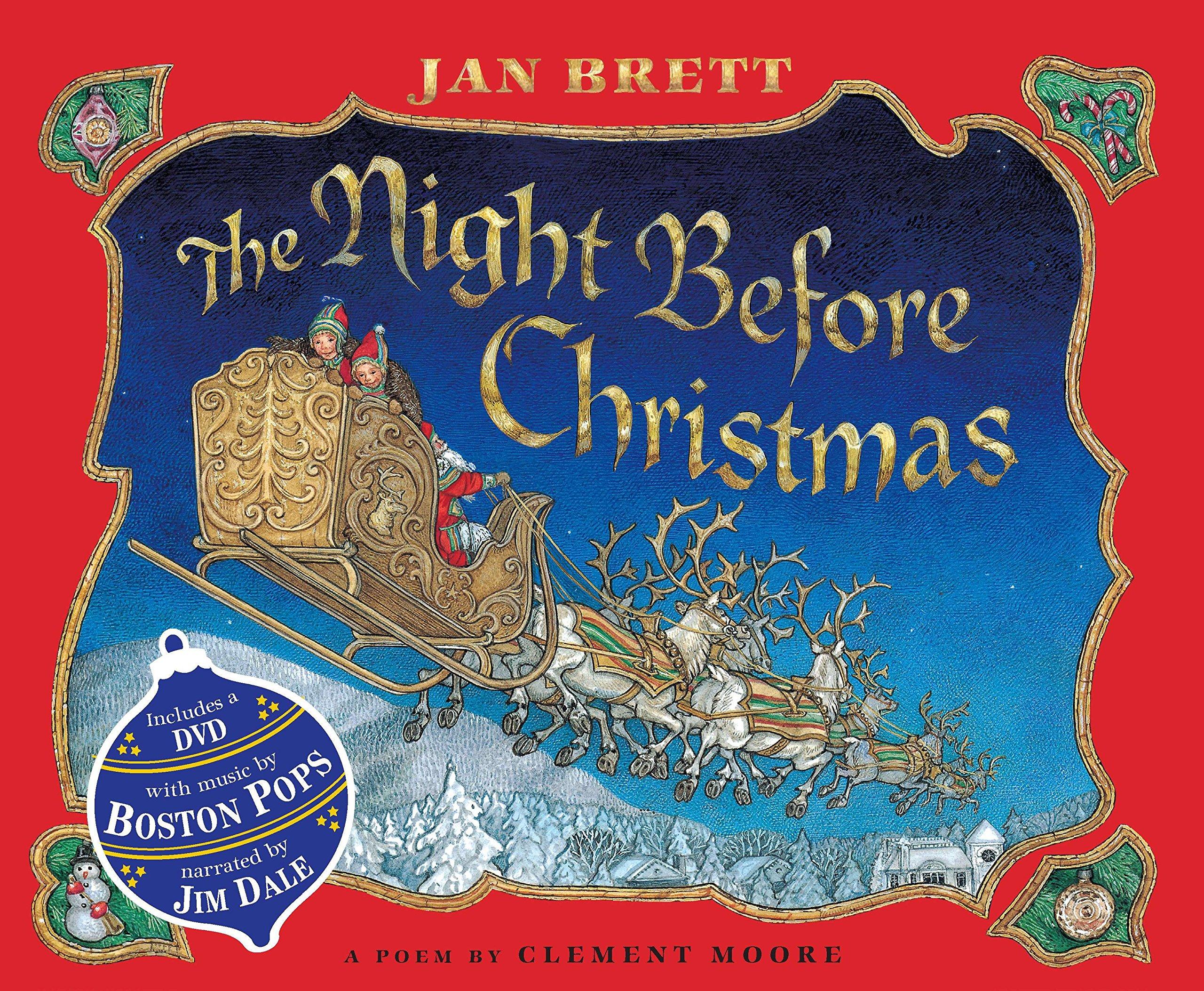 Amazon.com: The Night Before Christmas (Book & DVD) (9780399256707 ...