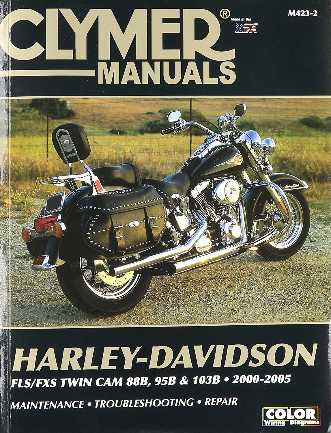 amazon com clymer repair manual for harley softail twin cam 88 00 rh amazon com