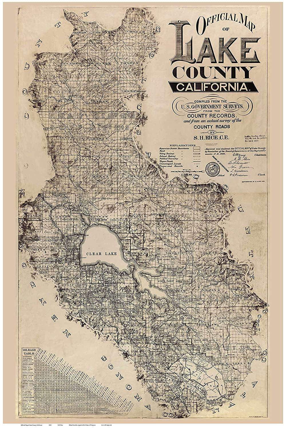 Map Lake County Ca on