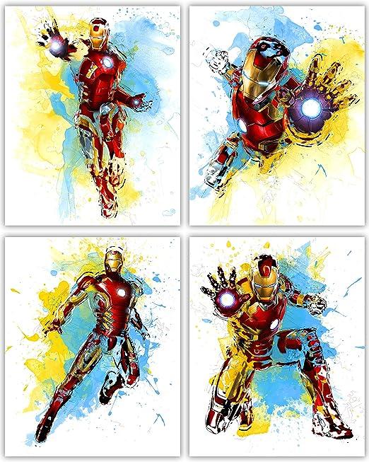 Amazon.com: Iron Man decoración de pared colección – la gran ...