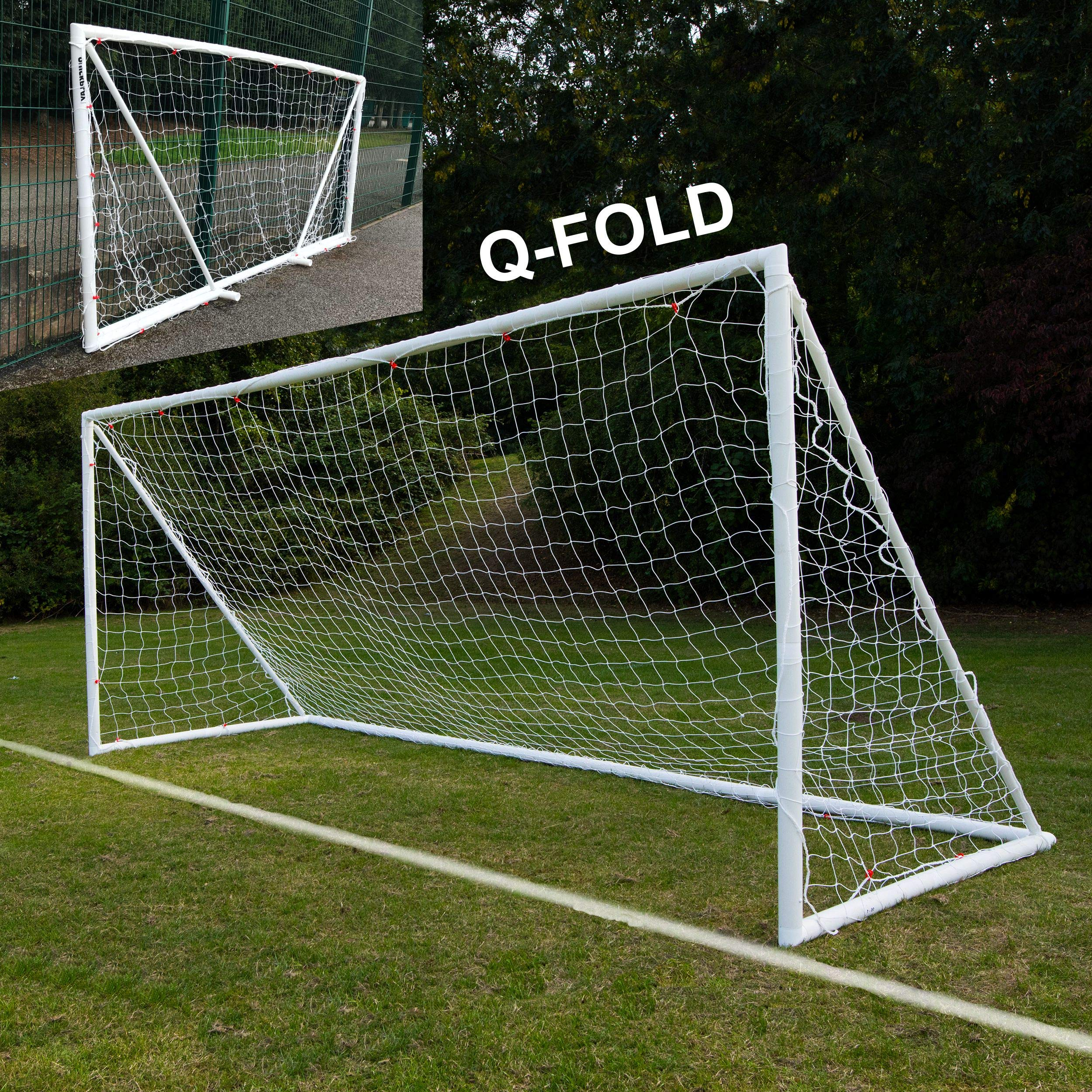 QuickPlay Q-Fold | The 30 Second Folding Soccer Goal for Backyard [Single Goal] (16x7')