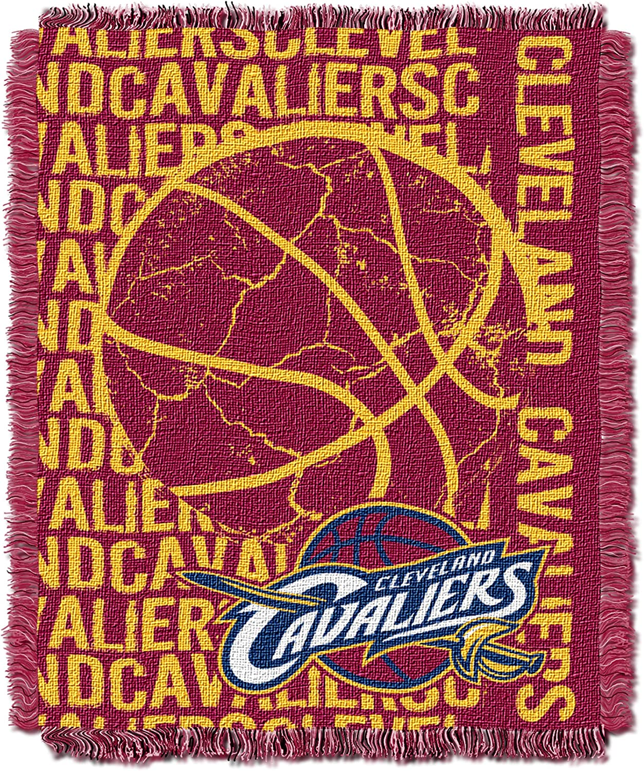 Officially Licensed NBA Double Play Jacquard Throw Blanket Multi Color 48 x 60
