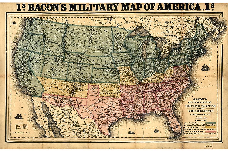 Amazon.com: Military Map of America | Historical ...