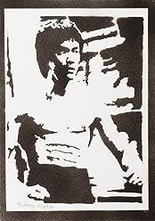 Póster Bruce Lee Grafiti Hecho A Mano - Handmade Street Art - Artwork