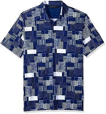 89769f087 Amazon.com: Bugatchi Men's Soft Finish Trim Fit Digital Print Polo ...