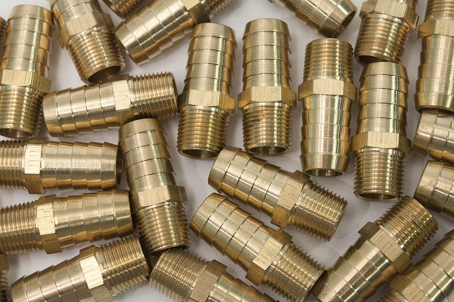 LTWFITTING Brass Fitting Coupler 3//8 Hose Barb x 1//8 Male NPT Fuel Gas Water Pack of 5