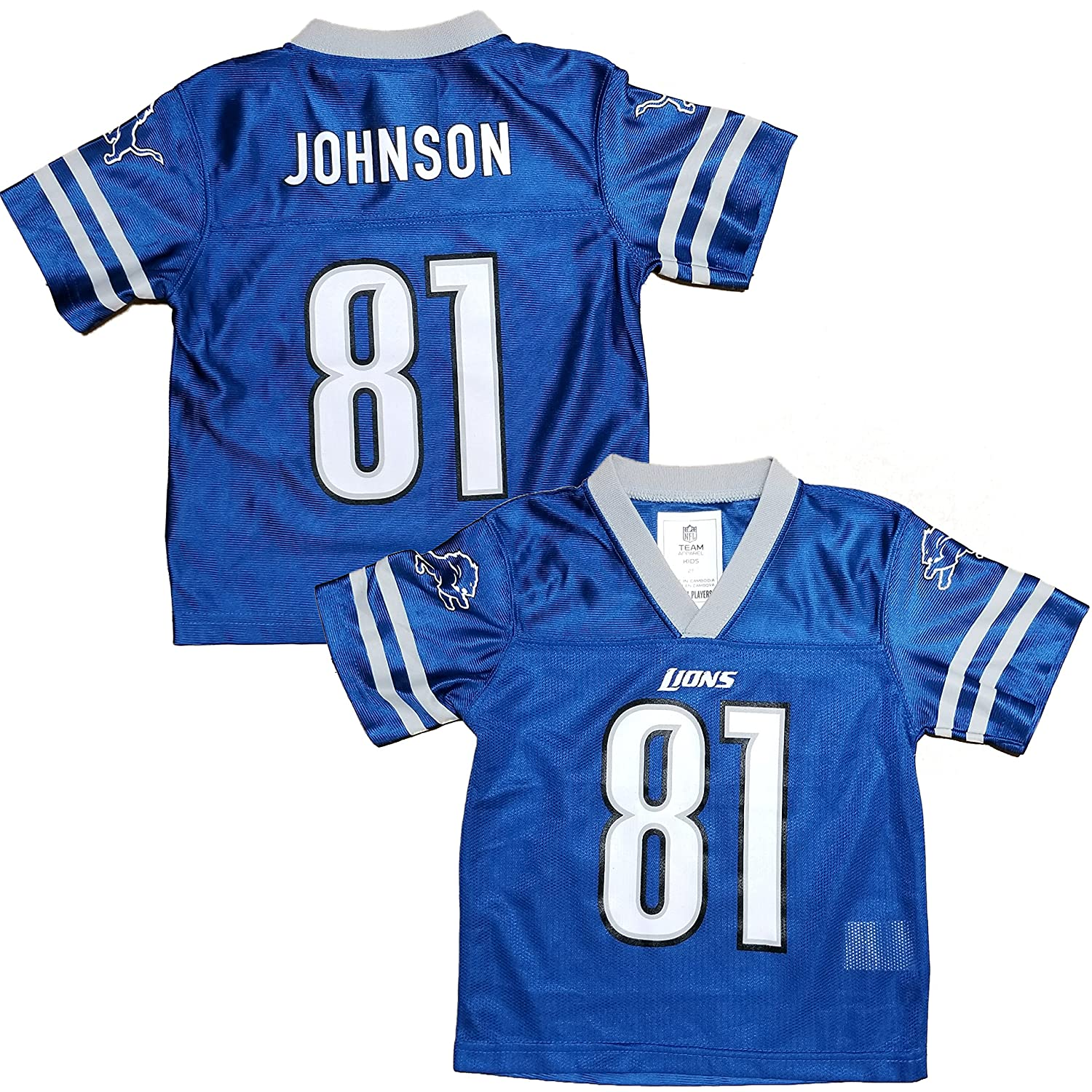 Calvin Johnson Detroit Lions Blue Home Player Jersey Youth  for cheap