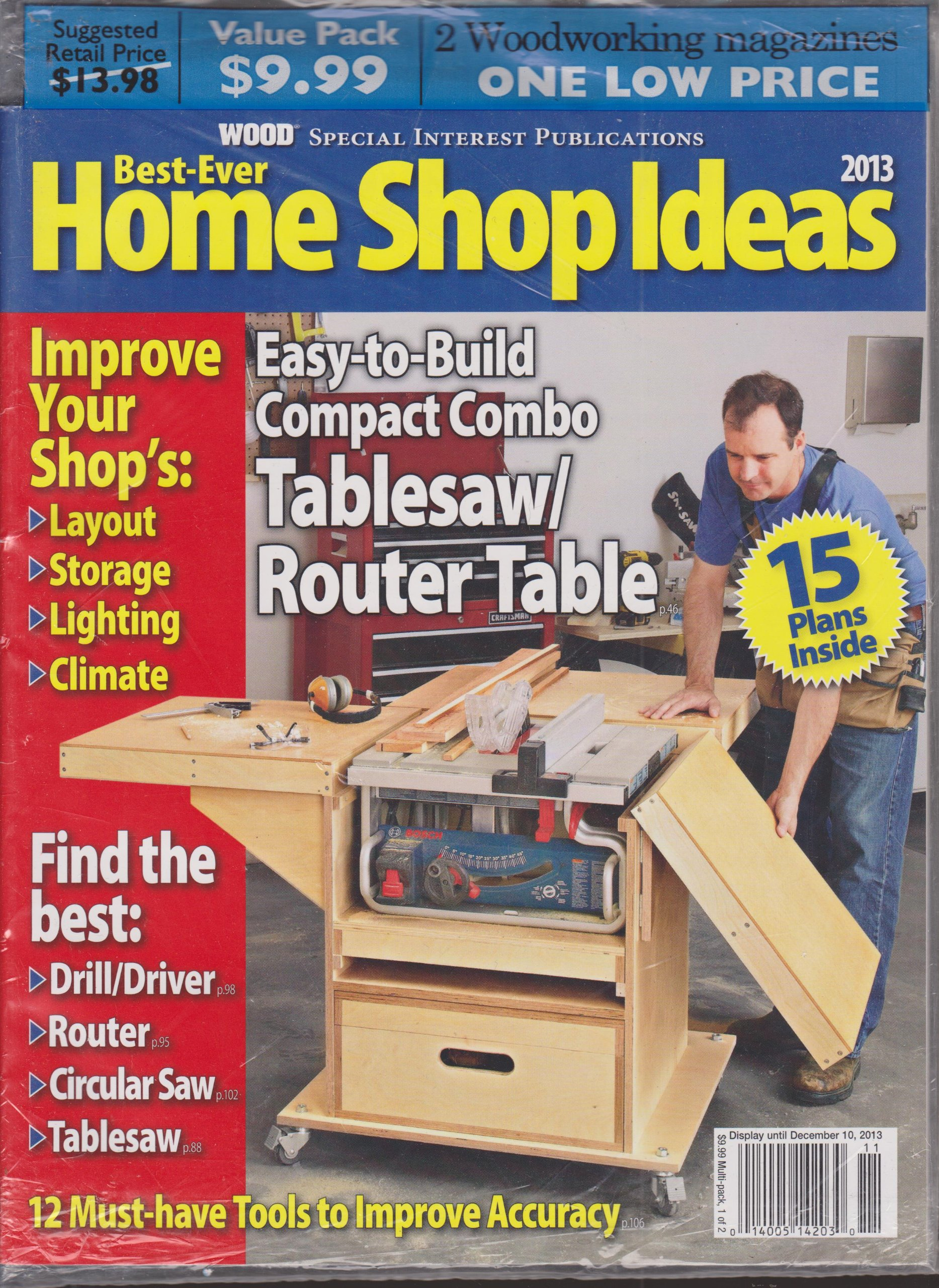 Read Online Best Ever Home Shop Ideas 2013 & Better Homes and Gardens Wood Magazine November 2013 2 Pack ebook