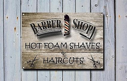 Amazon Com Barber Shop Sign Metal Sign Barbershop Signs