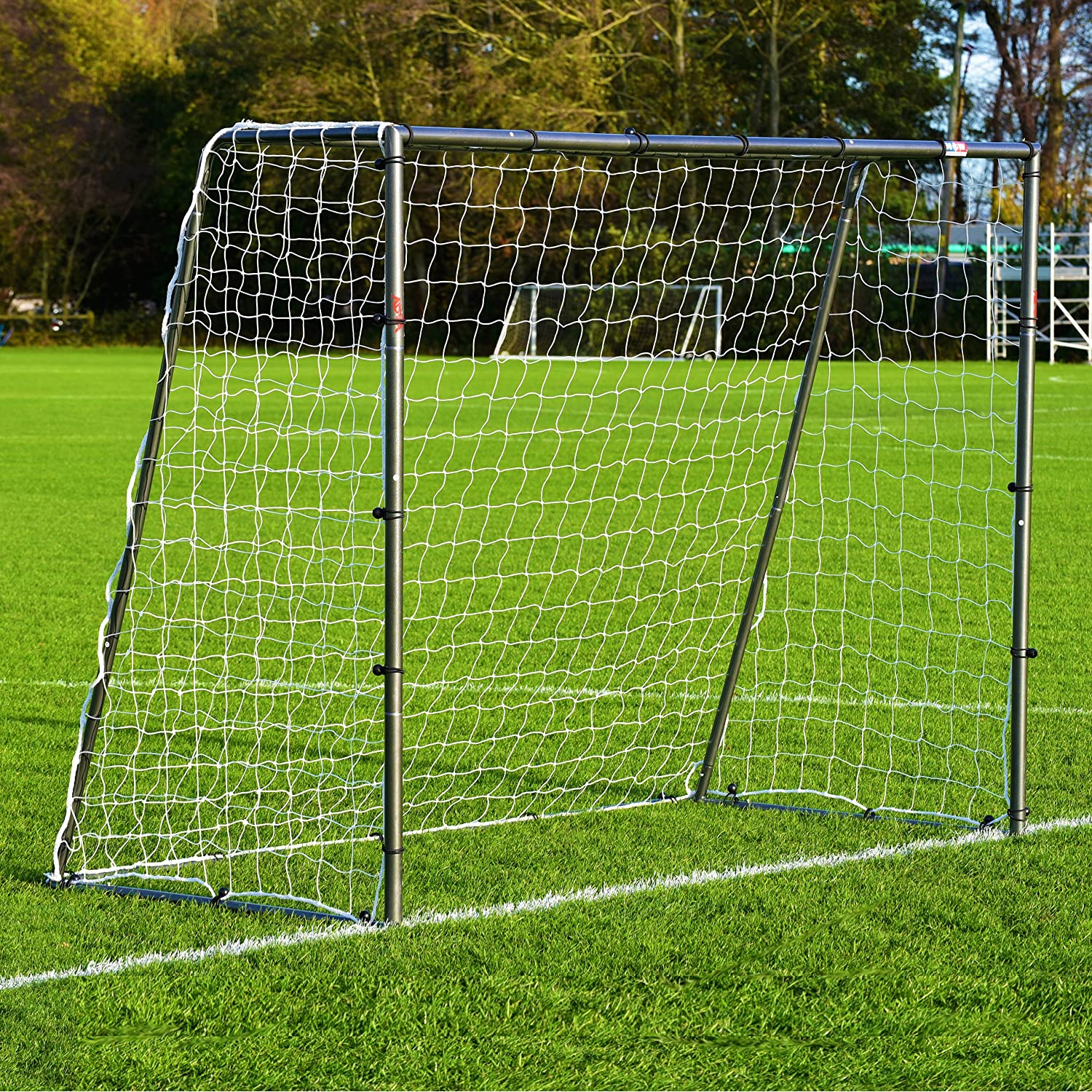 8 x 6 FORZA steel42 Soccer Goal – [ The StrongestスチールGoal Post & Netパッケージwith Soccer Goal Targetトレーニングシート] B018UC6986with Target Sheet + Ball