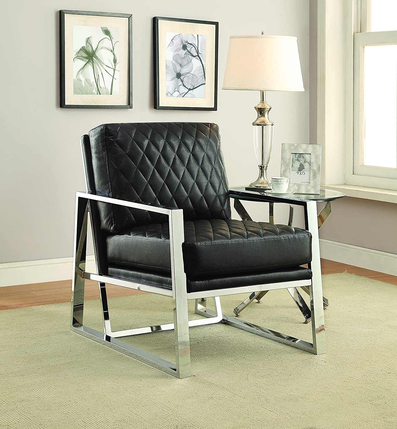 Fantastic Coaster Home Furnishings 900622 Accent Chair Black Chrome Gmtry Best Dining Table And Chair Ideas Images Gmtryco