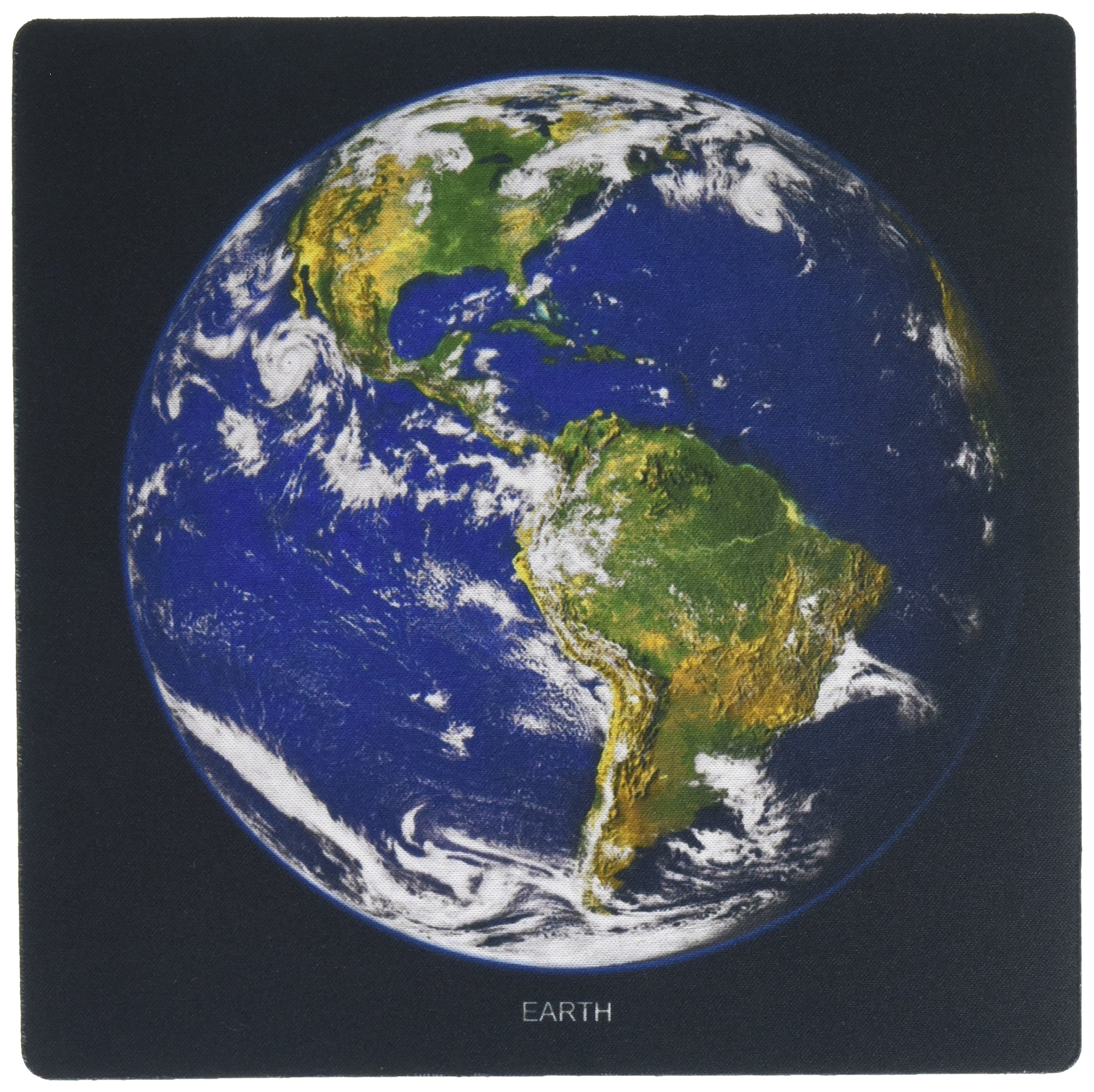 3dRose LLC 8 x 8 x 0.25 Inches Mouse Pad, Solar System Western Hemisphere of the Earth (mp_76840_1)