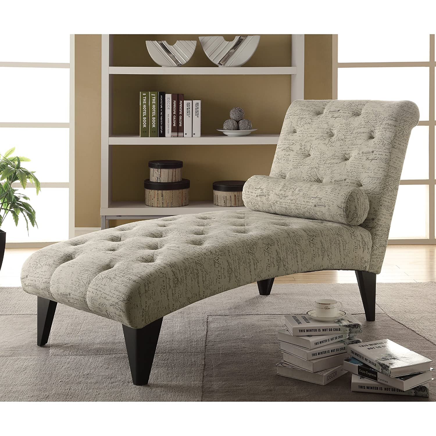 Home Lounger Indoor - Modern Contemporary Chaise Cushion Fabric Furniture Bedroom Living Spaces Relax Comfort
