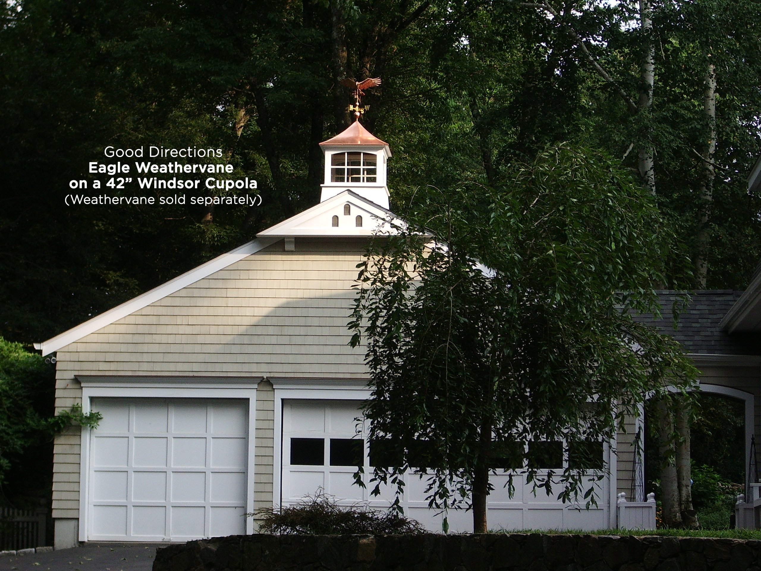 Good Directions 2118WV Windsor PVC Vinyl Cupola with Polished Copper Roof, 18-Inch x 25-Inch by Good Directions (Image #3)