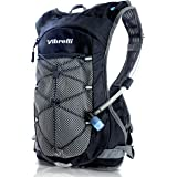 Vibrelli Hydration Pack & 2L Hydration Bladder - High Flow Bite Valve Hydration Backpack with Anti-Microbial Technology