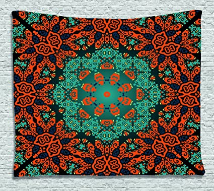 Amazoncom Ambesonne Psychedelic Decor Collection Round