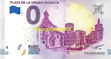 Euro Billets - 0 Euro - Valencia Placa de la Virgen Valencia - Series 001601 hasta