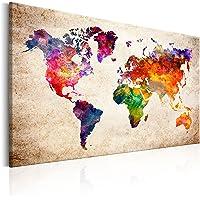 murando k-B-0027-b-a Mappa del Mondo Mappa Continente