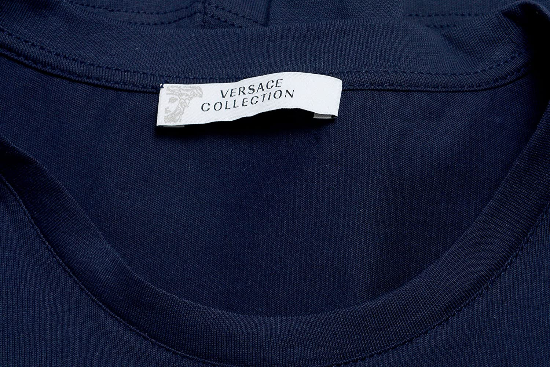 Versace Collection Mens Blue Graphic Print T-Shirt US 2XL IT 56;