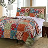 Amazon.com: Pottery Barn Providence Patchwork Quilt & Sham ...