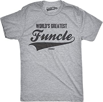 888e856e Mens Worlds Greatest Funcle Funny Fun Uncle Family Relationship T Shirt. Crazy  Dog T-Shirts