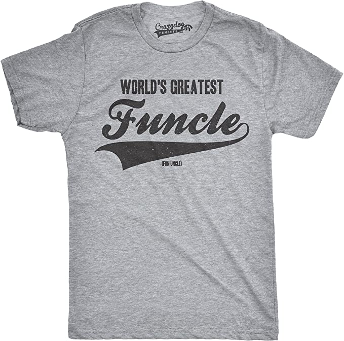 3f8789340 Crazy Dog T-Shirts Mens Worlds Greatest Funcle Funny Fun Uncle Family  Relationship T Shirt