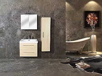 Jindoli Waschtisch Badezimmer 2 Schubladen 60 cm, Waschtisch SDB 60 ...
