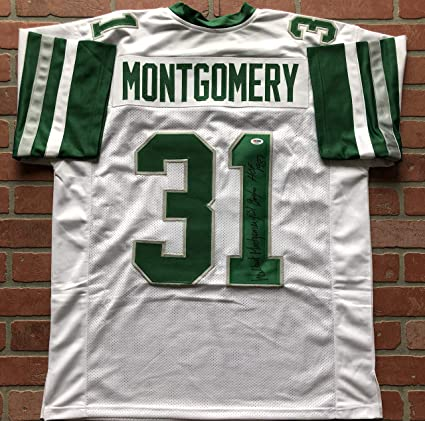 Wilbert Montgomery autographed signed inscribed jersey ...