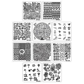 Amazon Bundle Monster 10pc Nail Art Manicure Stamping Plates