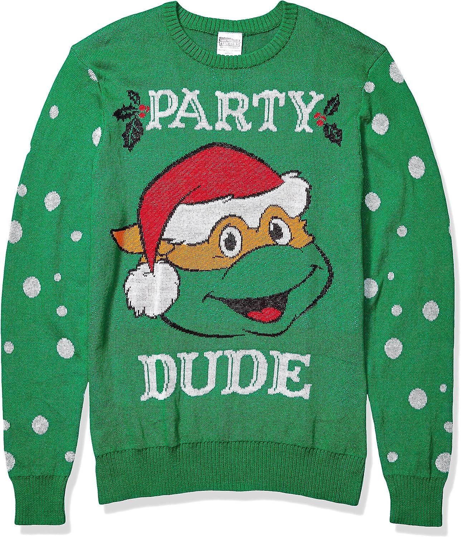 Teenage Mutant Ninja Turtles Mens Party Dudes Sweater Pullover Sweater
