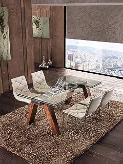 Tavolo da cucina allungabile in vetro Enterprise - SG294: Amazon.it ...