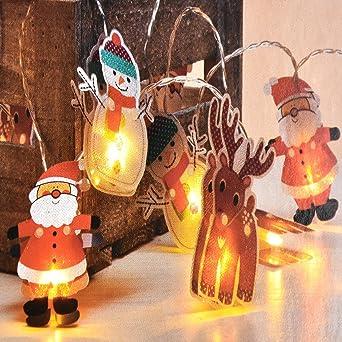 Weihnachtsbeleuchtung Figuren Led.Led Lichterkette Mit Weihnachtlichen Figuren Batterie Betrieb