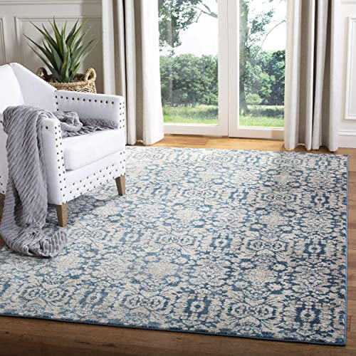 Safavieh Sofia Collection SOF381C Vintage Blue and Beige Distressed Area Rug 3 x 5