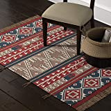 Amazon Brand – Stone & Beam Modern Global Bohemian Kilim Rug, 4 x 6 Foot, Multicolor