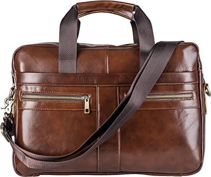 Genuine Leather Messenger Bag Leather Briefcases