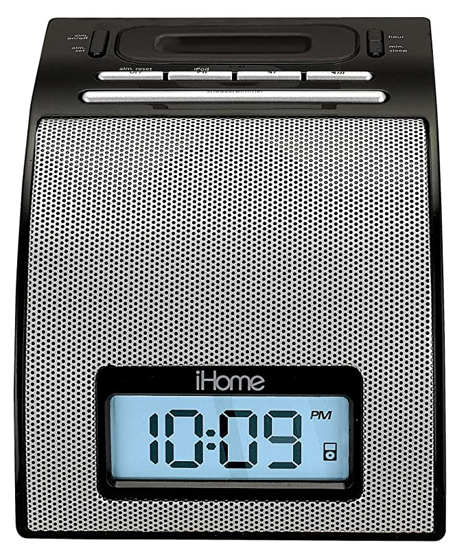 ihome ih11 alarm clock with dock for ipod silver amazon in rh amazon in
