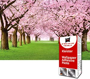 GREAT ART Photo Wallpaper Cherry Blossoms Flowers Decoration 132.3x93.7in / 336x238cm – Japan Tokyo Nippon Tree Alley Garden Park Pink Flower Mural – 8 Pieces Includes Paste