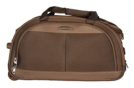 46570453ed2c Image Unavailable. Image not available for. Colour  Ventex 22 quot  Brown 2  Wheel Duffel Trolley Bag