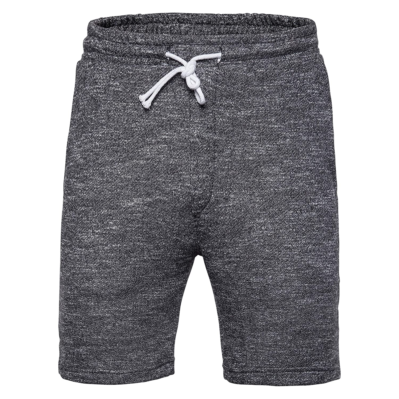 SIR7 Mens Summer Sports Sweat Shorts,Casual Cotton Front Flat Shorts