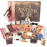 Our Adventure Book - Up Movie  Scrapbook With 2 Sponge Daubers, Ink Pads, Rhinestones, Postcards, and  More. Photo Album Holds Up To 160 pictures.