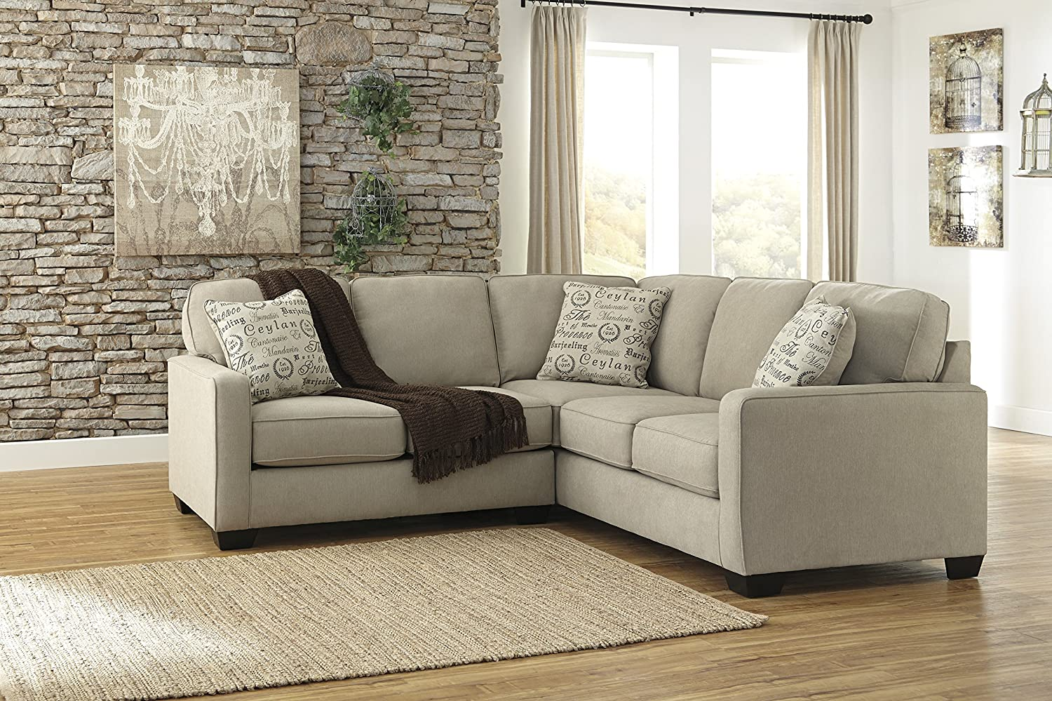 Attractive Amazon.com: Ashley Alenya 16600 55 67 2PC Sectional Sofa With Left Arm  Facing Loveseat Right Arm Facing Sofa Pillows With Print Pattern And Track  Arms In: ... Idea