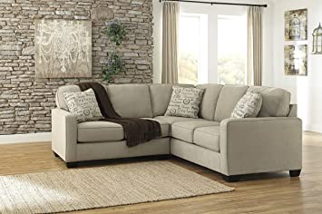 Ashley Alenya 16600-55-67 2PC Sectional Sofa with Left Arm Facing Loveseat Right : loveseat sectional sofas - Sectionals, Sofas & Couches
