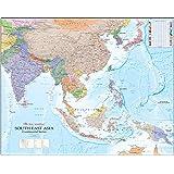 East Asie du Sud Carte plastifiée–Large–A1–84cm x 66cm