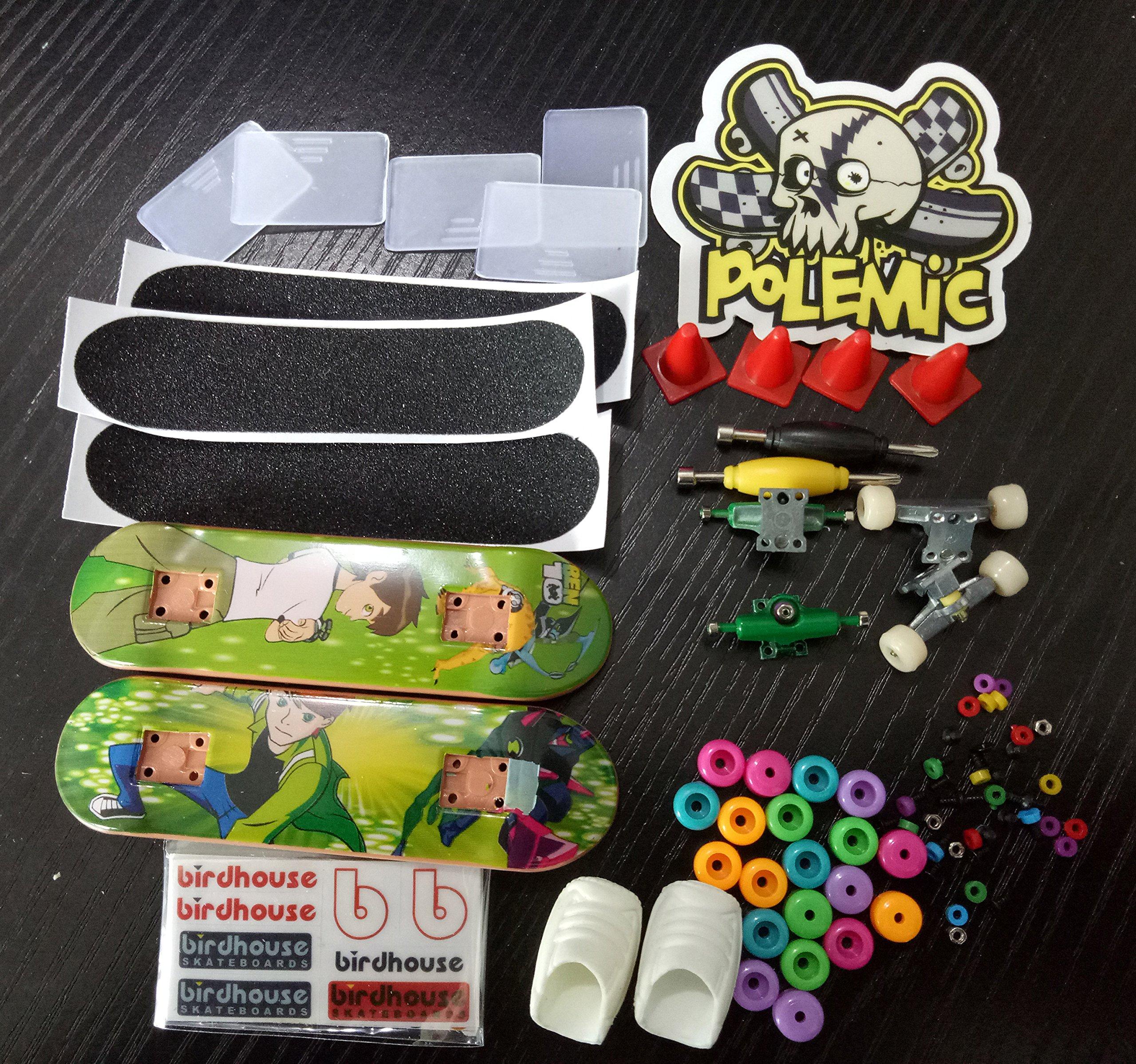 Fanci ABS Finger Skateboard Set Double Rocker DIY Mini Finger Boarding Toy with Storage Box by Fanci (Image #4)