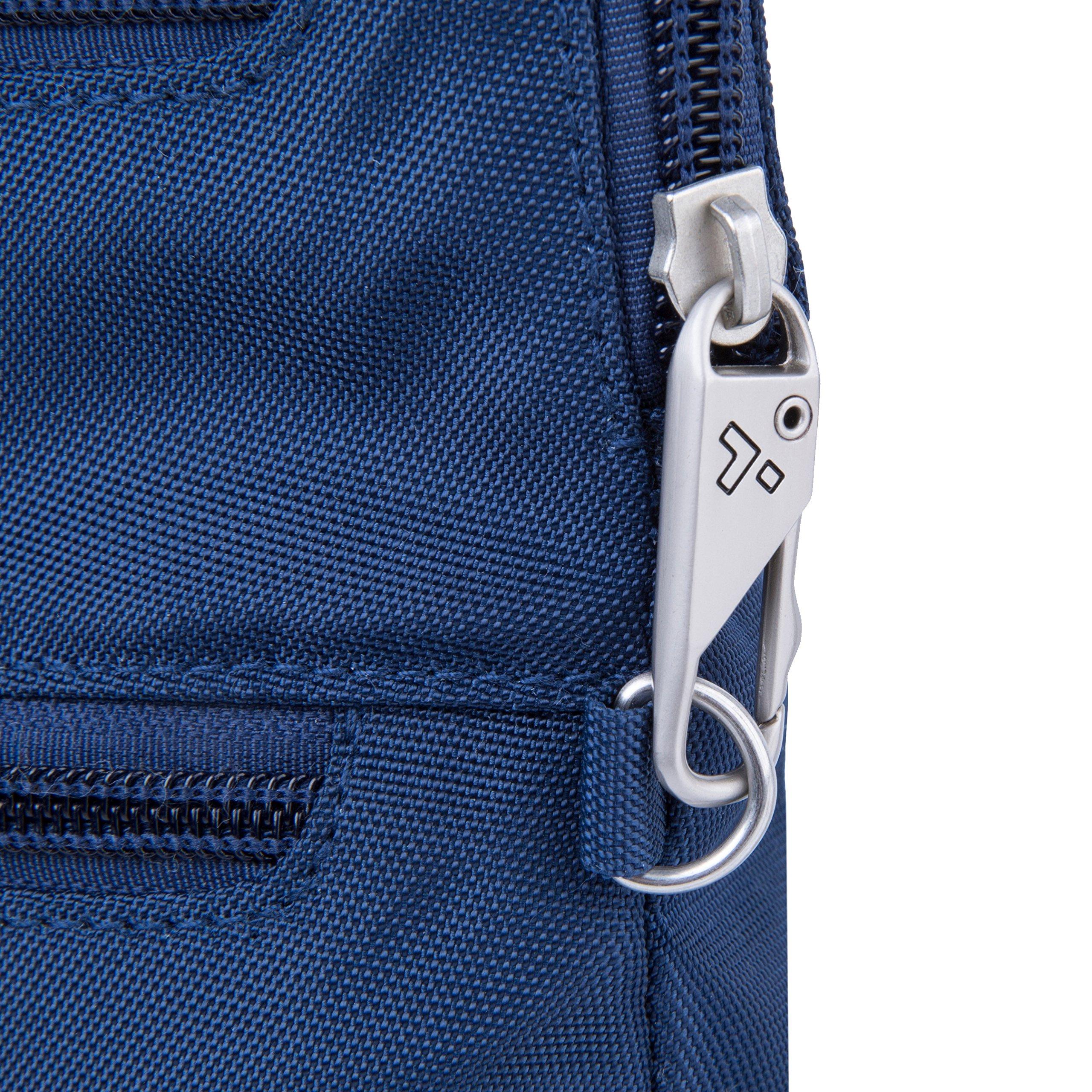 Travelon Anti-Theft Classic Slim Dbl Zip Crossbody Bag, Midnight by Travelon (Image #6)