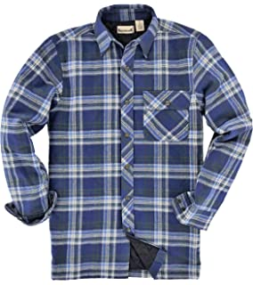 6de81c508a Amazon.com  JOBMAN Workwear Men s Quilted Work Shirt  Clothing