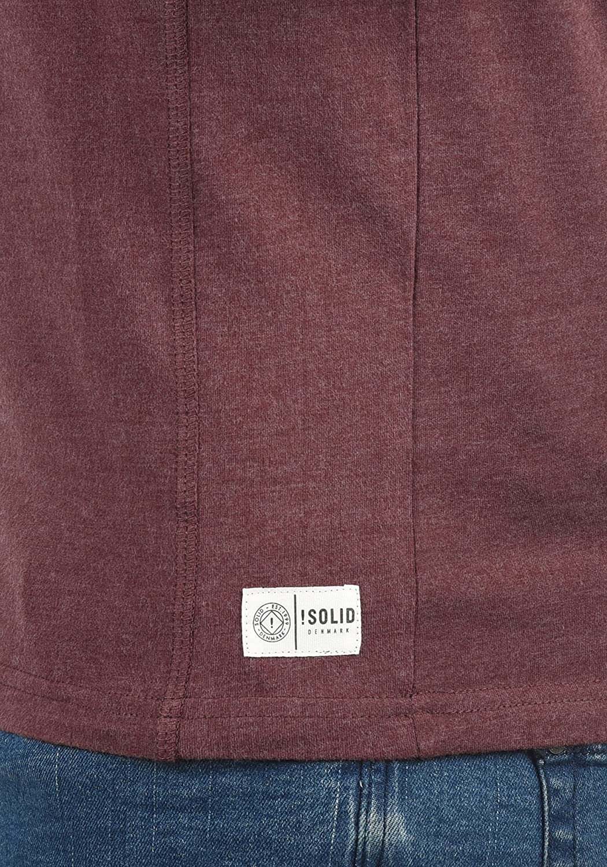 !Solid Doriano Herren Longsleeve Langarmshirt Shirt Mit Grandad-Ausschnitt
