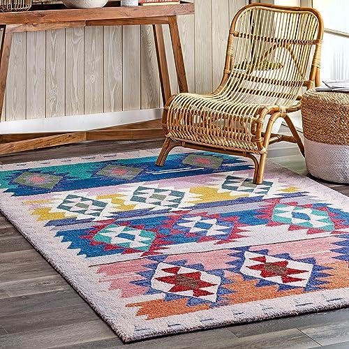 nuLOOM Tejas Modern Aztec Wool Area Rug