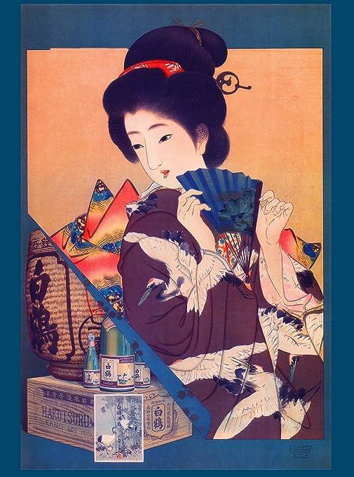 Tin Sign Asia Style Samurai