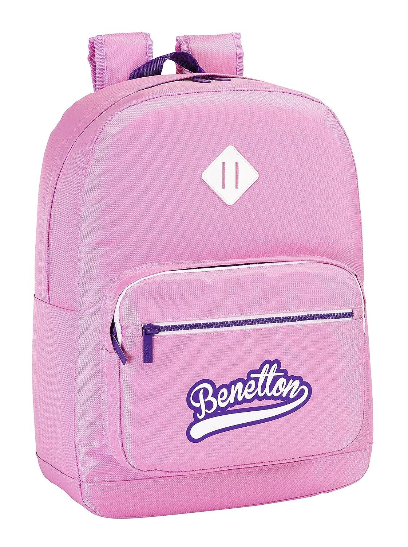 Benetton Mochila adaptable, 32 x 43 cm, color rosa (Safta 611551754)